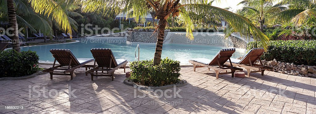 Afternoon on the pool, Cuba royalty-free stock photo