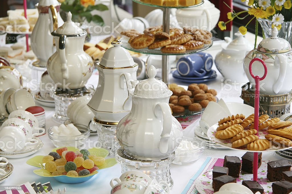 Afternoon or high tea party royalty-free stock photo