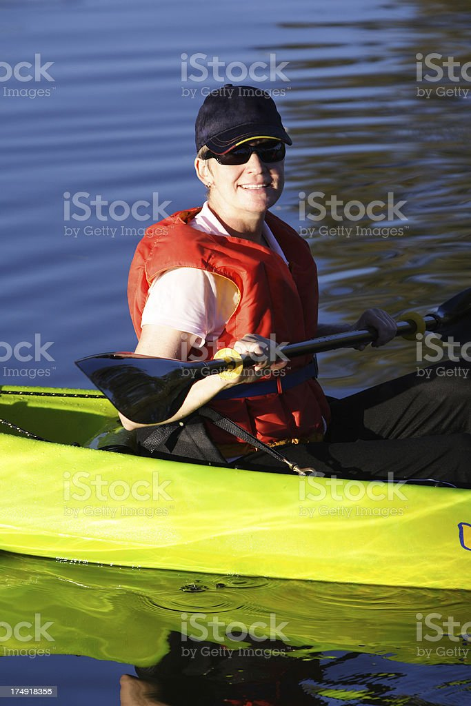 afternoon paddle royalty-free stock photo
