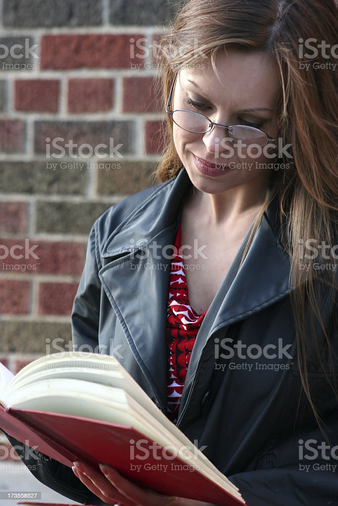 afternoon reading royalty-free stock photo