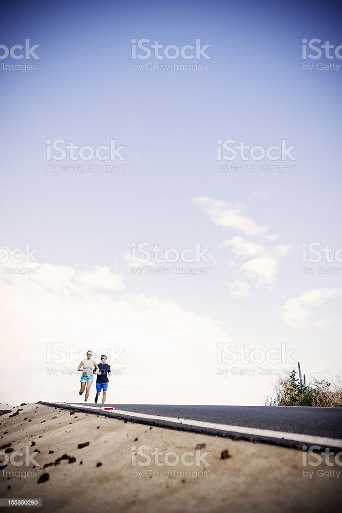 Afternoon road run stock photo