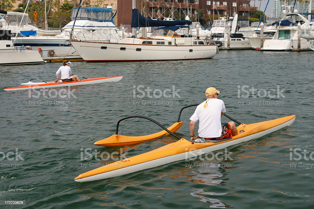Afternoon Row stock photo