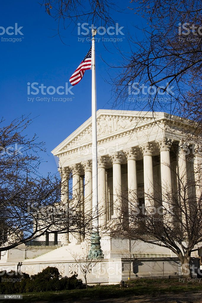 Afternoon Sun on the U.S. Supreme Court royalty-free stock photo