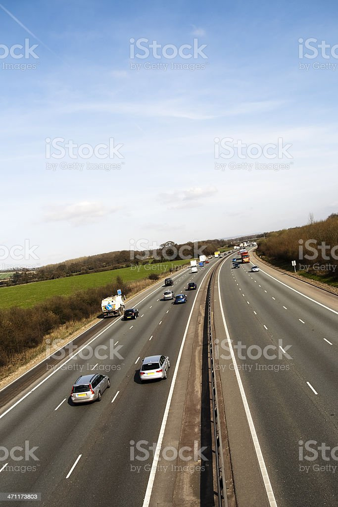 Afternoon traffic on the M25 motorway royalty-free stock photo