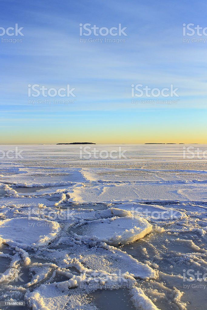Afternoon winter seascape royalty-free stock photo