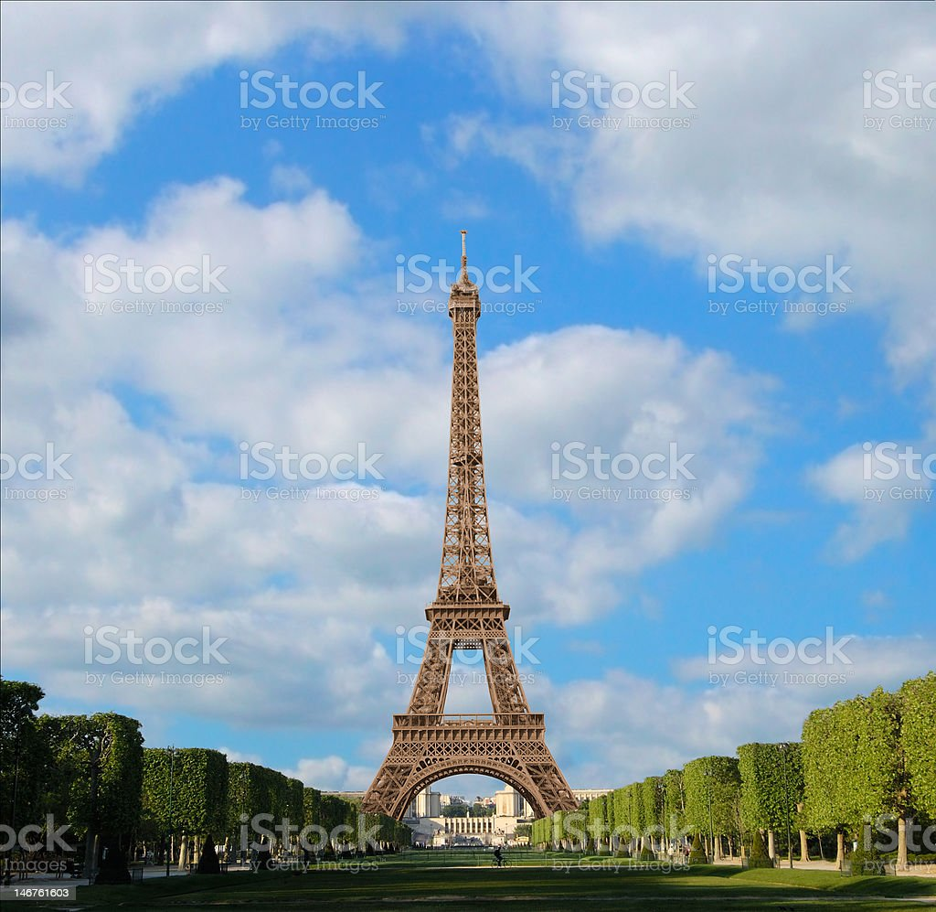 Afternoon with the Eiffel Tower stock photo