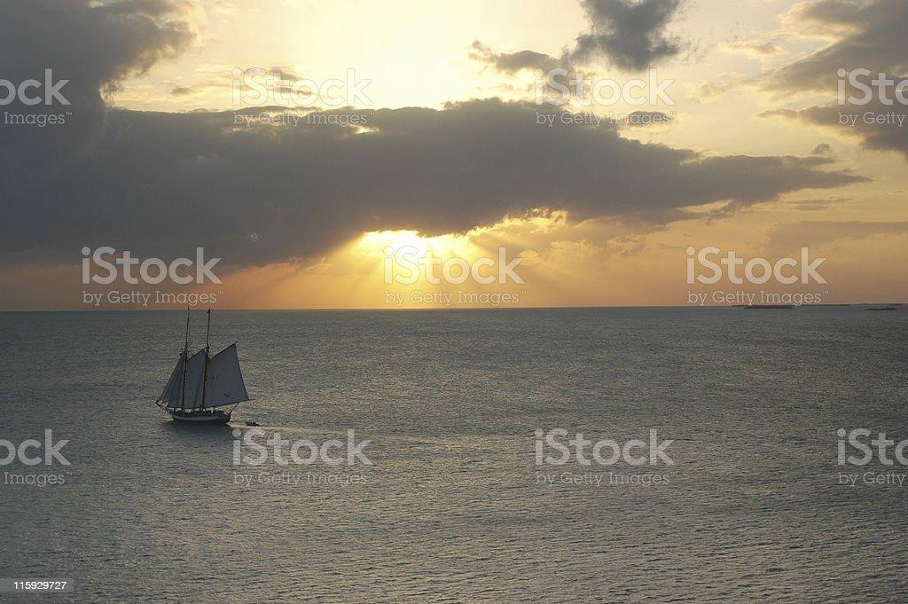 afternooner schooner royalty-free stock photo
