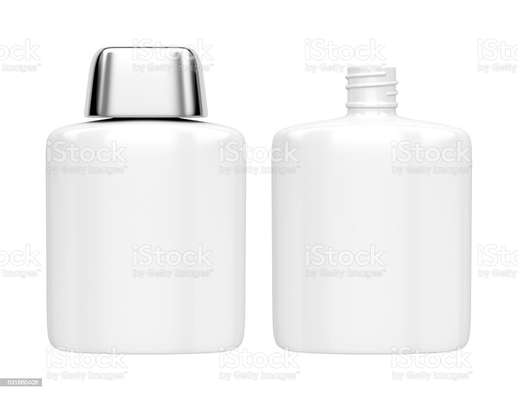 Aftershave lotion bottles stock photo