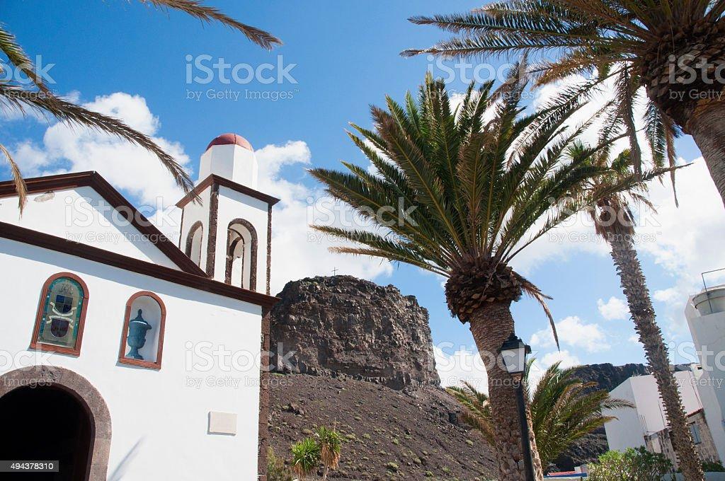 Agaete Village, Gran Canaria stock photo