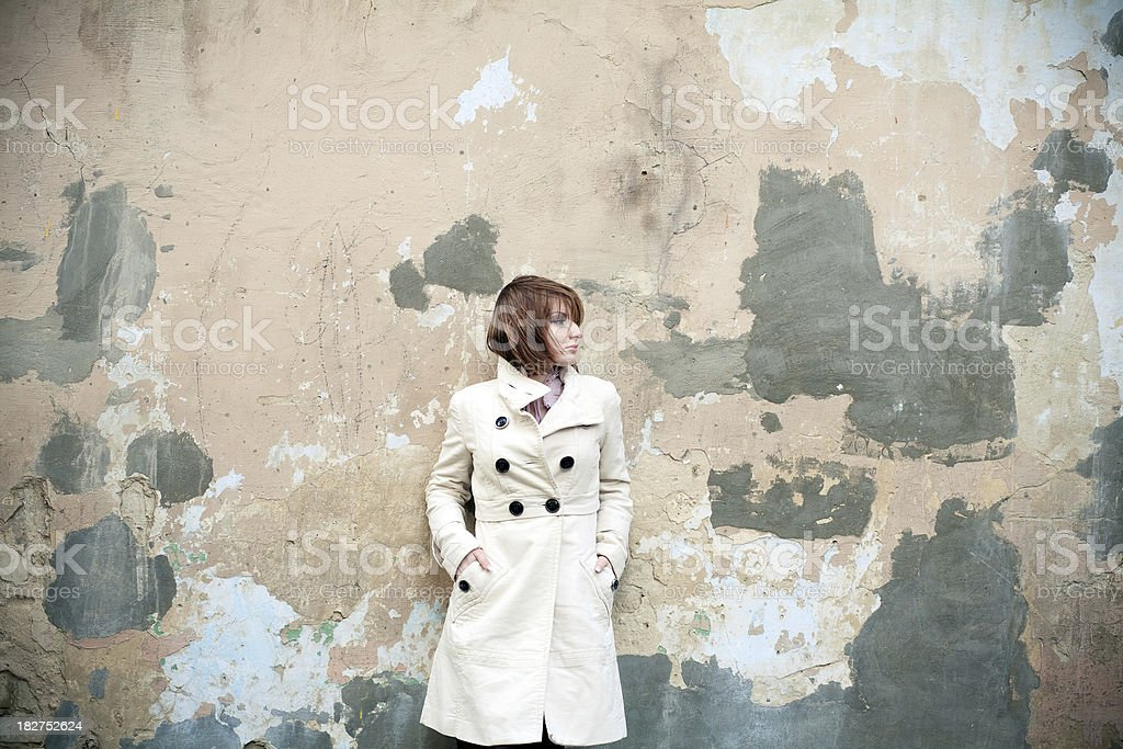 Against A Wall royalty-free stock photo