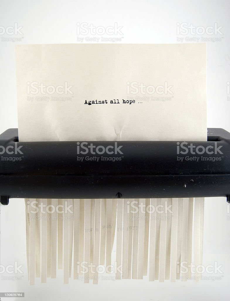 Against All Hope stock photo