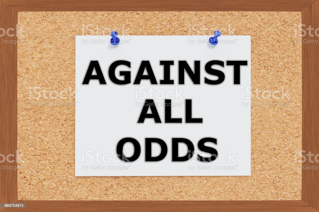 Against all Odds concept stock photo