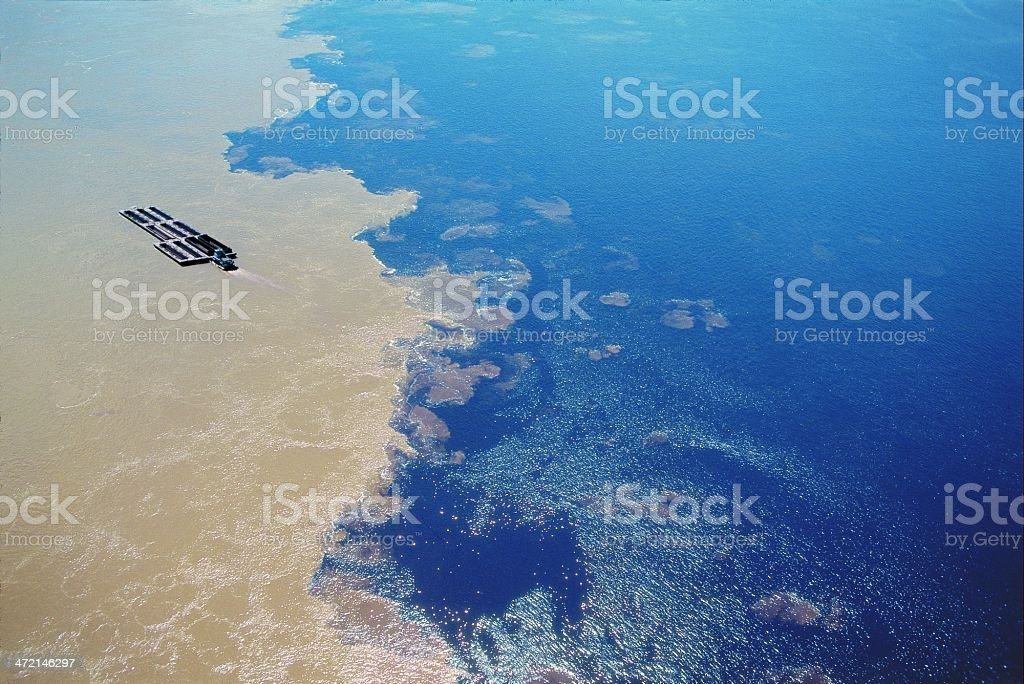 Against the Negro and Solim?es rivers in Brazil stock photo