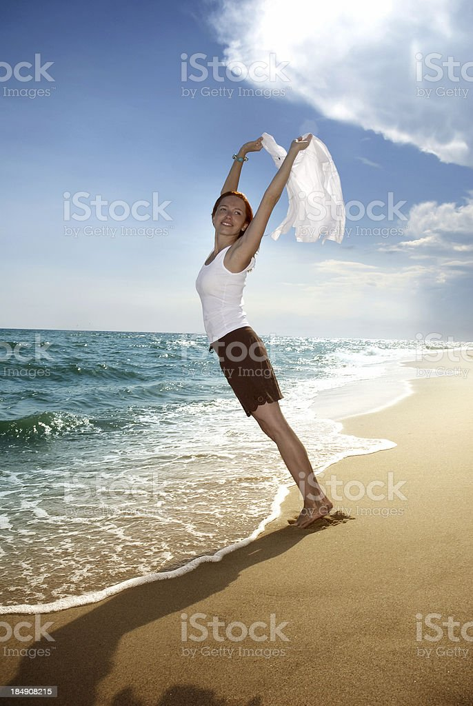 Against the wind royalty-free stock photo