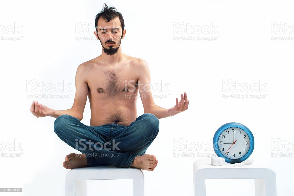 Against Time Yoga royalty-free stock photo