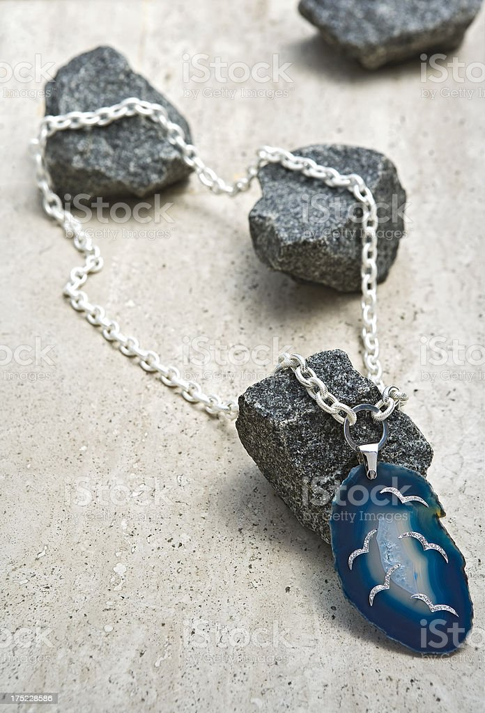 agate necklace stock photo