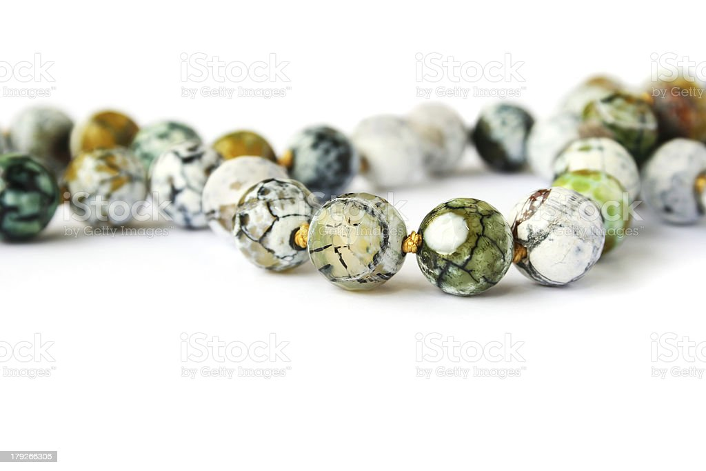 Agate necklace royalty-free stock photo