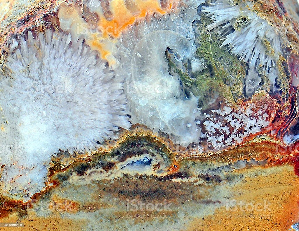Agate with natural colors stock photo