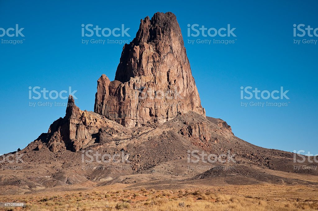 Agathlan, Volcanic Rock Formation in Arizona stock photo