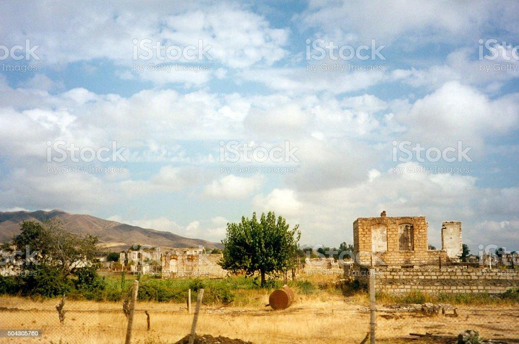 Agdam, Azerbaijan: city ruins - ghost town stock photo