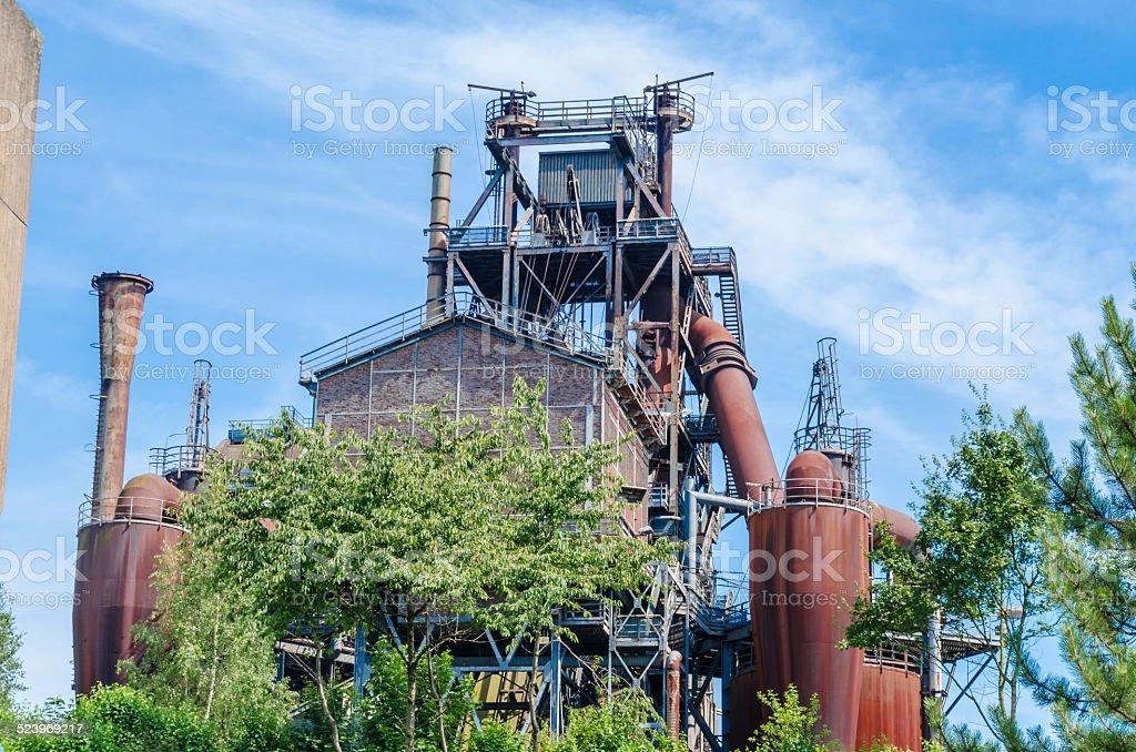 Age blast furnace stock photo