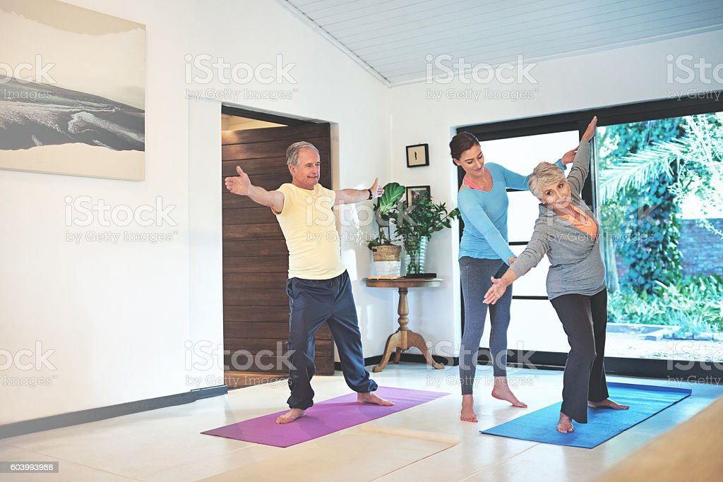 Age is no excuse to compromise on your health stock photo
