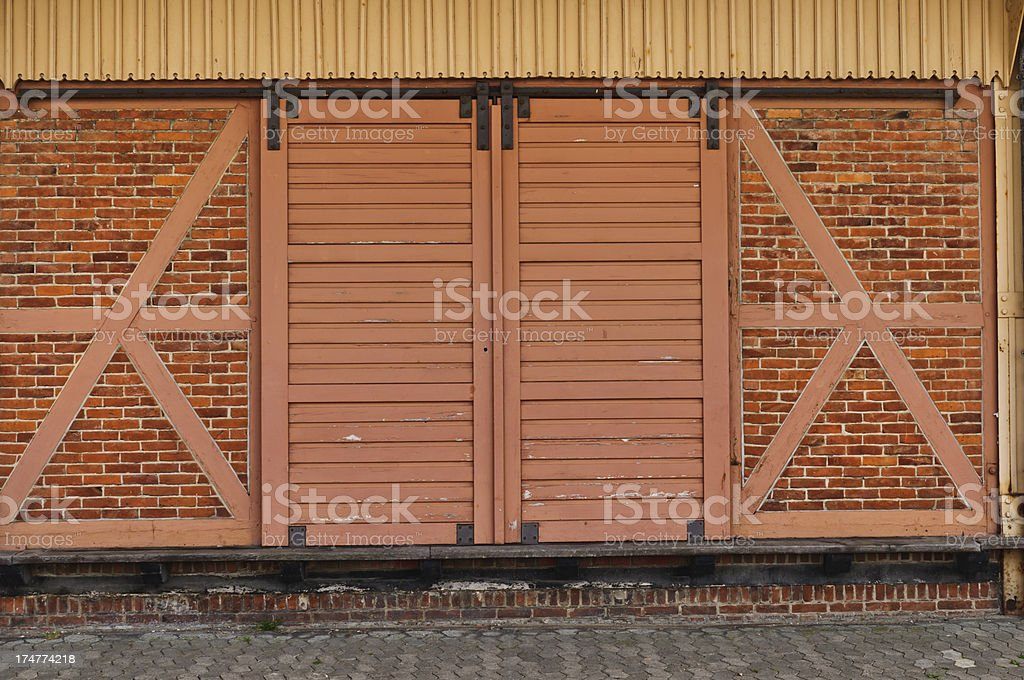 Age timbered station stock photo