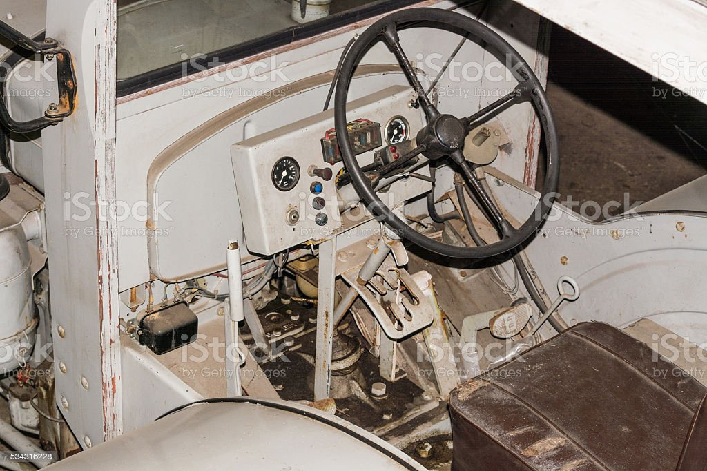 Age tractor, detail. stock photo