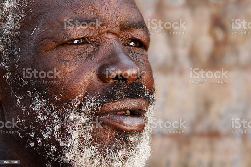 Aged African man portrait royalty-free stock photo