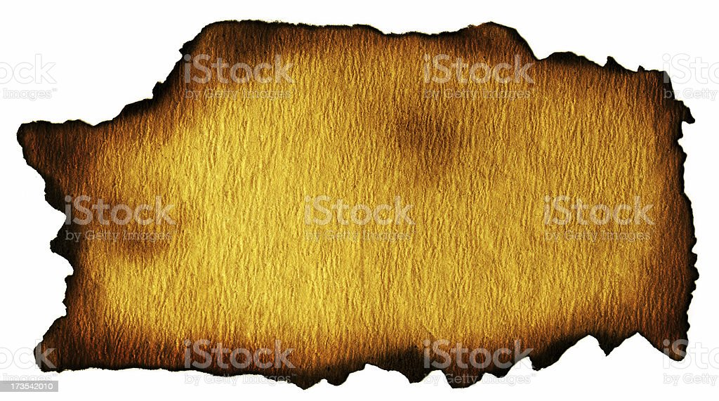 Aged and Burned Backgroud Paper royalty-free stock photo