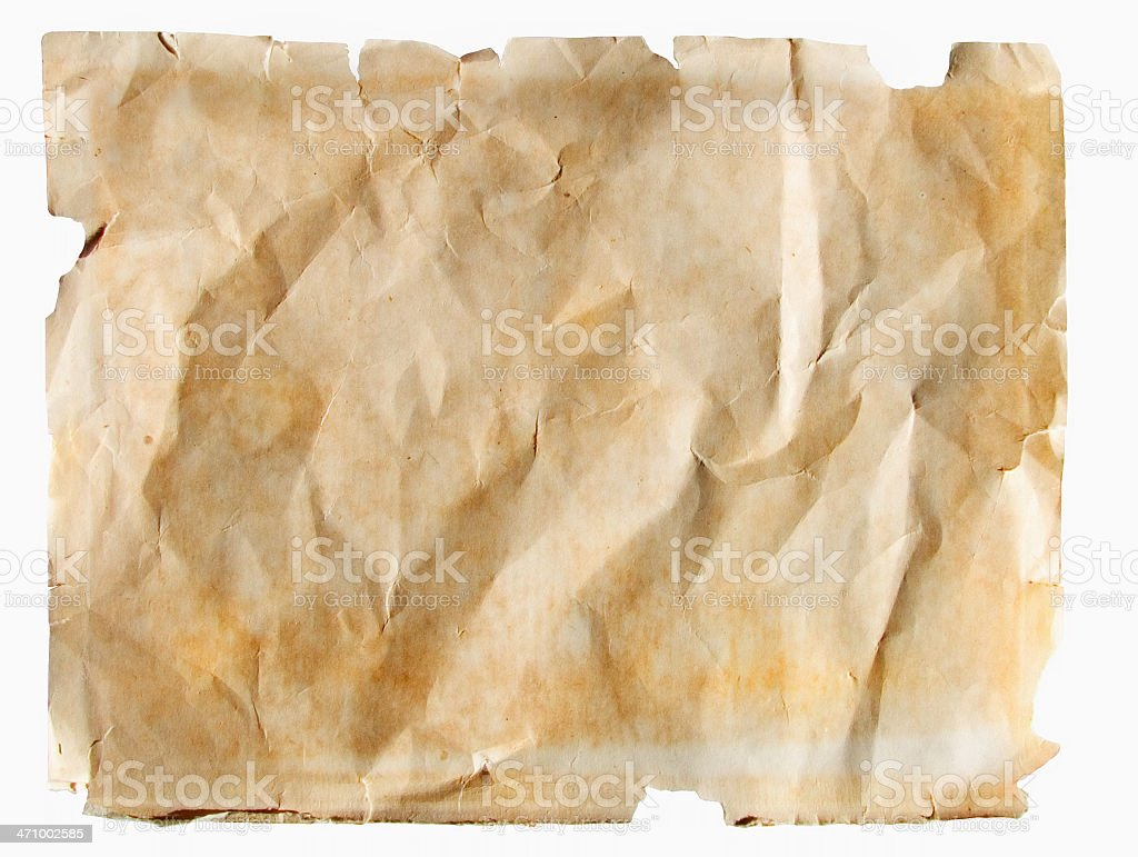 aged and stressed paper: circa  1950's stock photo
