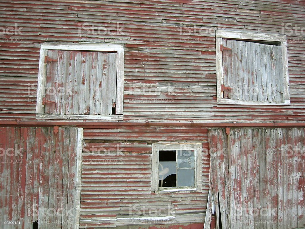 Aged Barn stock photo