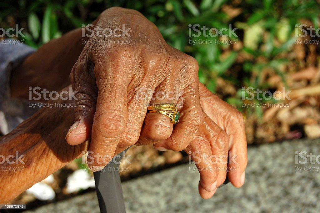 Aged beauty royalty-free stock photo