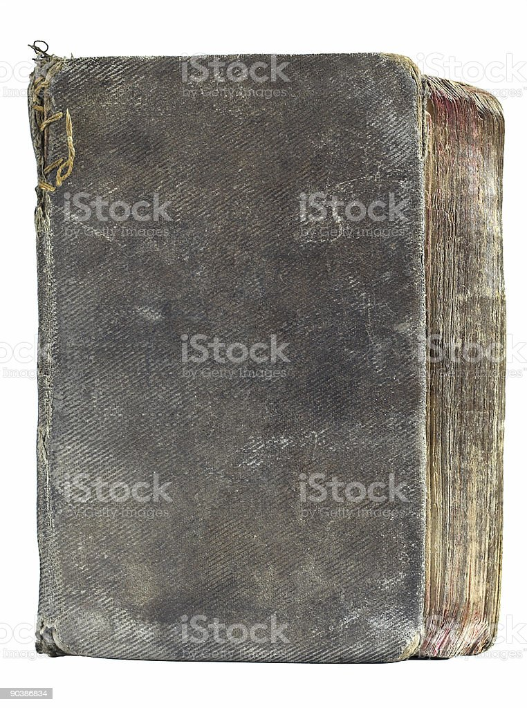 aged book cover frontal series royalty-free stock photo