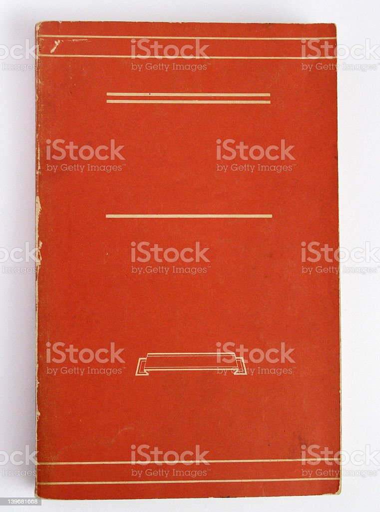 Aged Book Cover - Orange stock photo