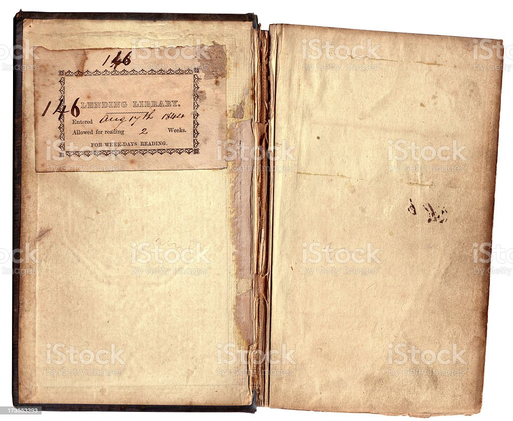 Aged Book Pages royalty-free stock photo