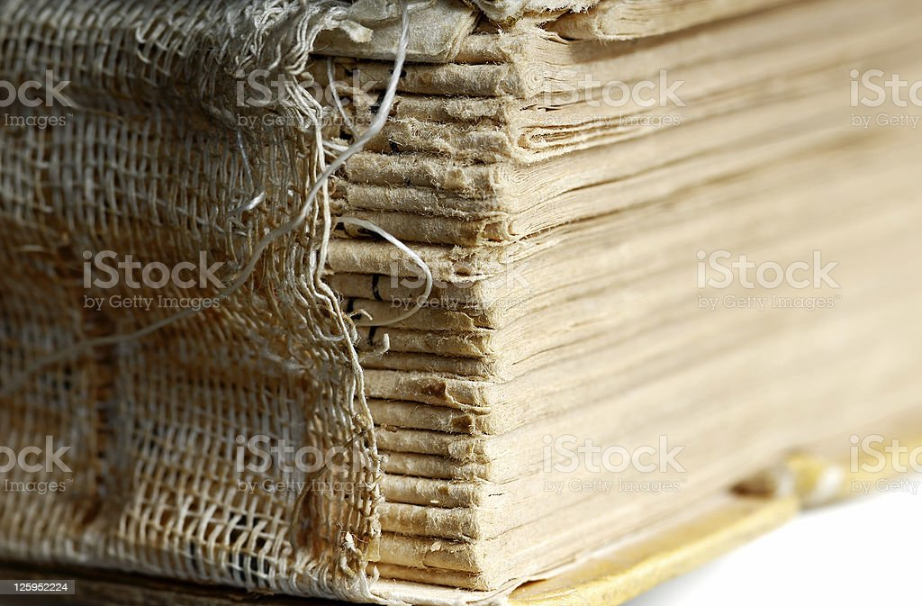 Aged book stock photo
