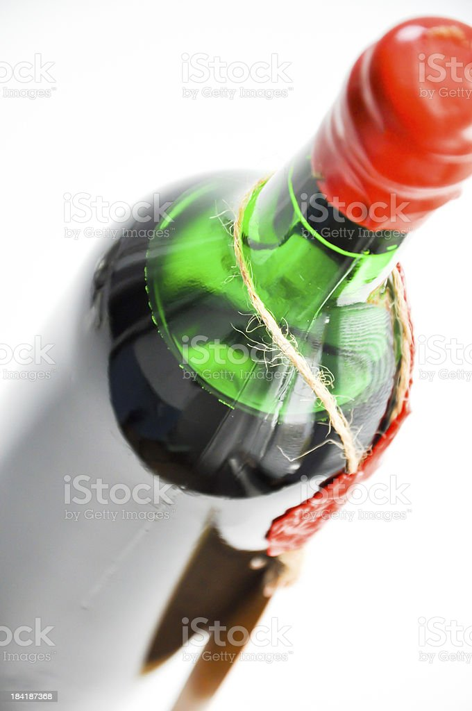 aged bottle of red wine royalty-free stock photo