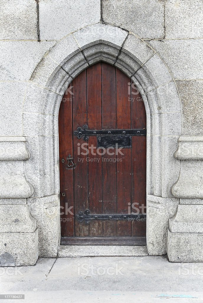 Aged brown door royalty-free stock photo