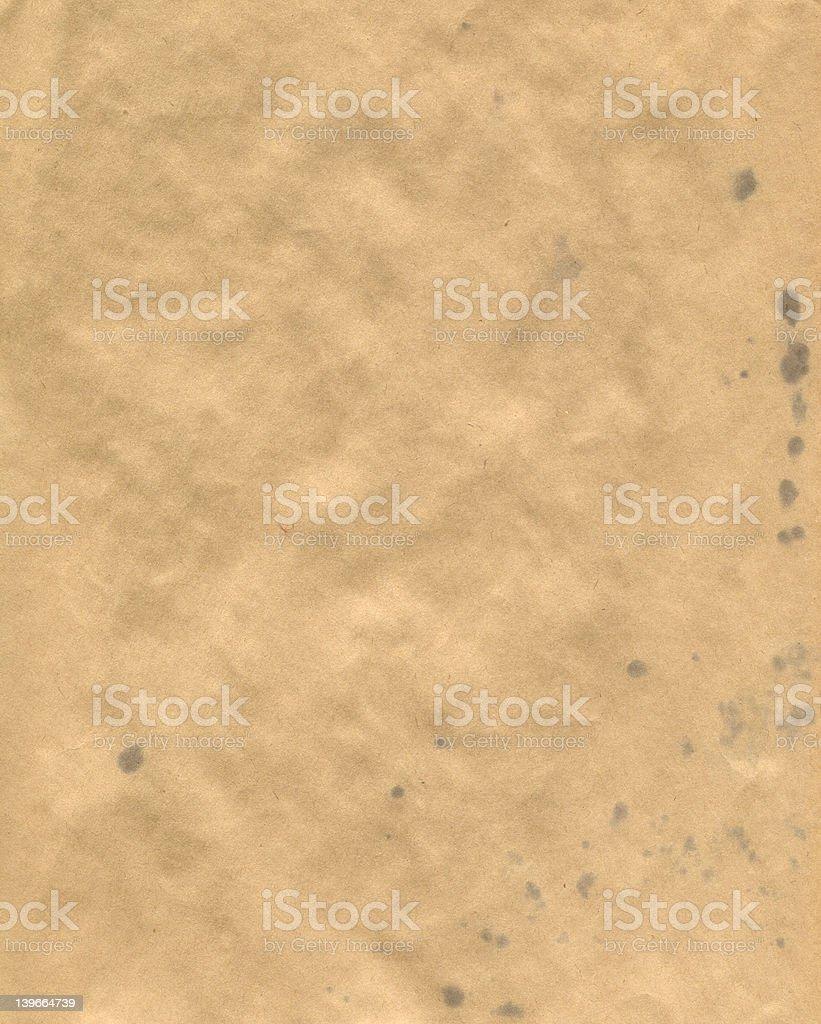 Vieux papier kraft avec encre blots photo libre de droits