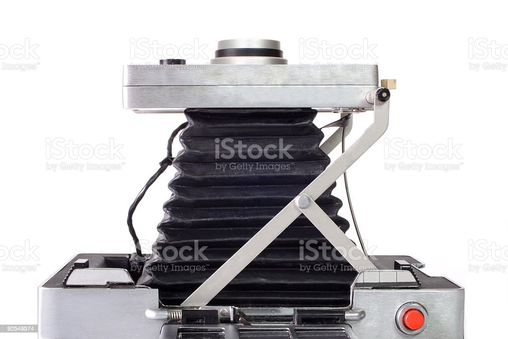 Aged camera top view royalty-free stock photo