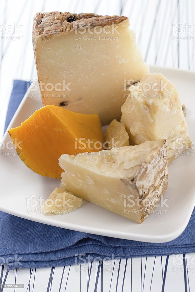Aged Cheeses royalty-free stock photo