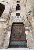 Aged door at a historic mosque, Old Cairo, Egypt