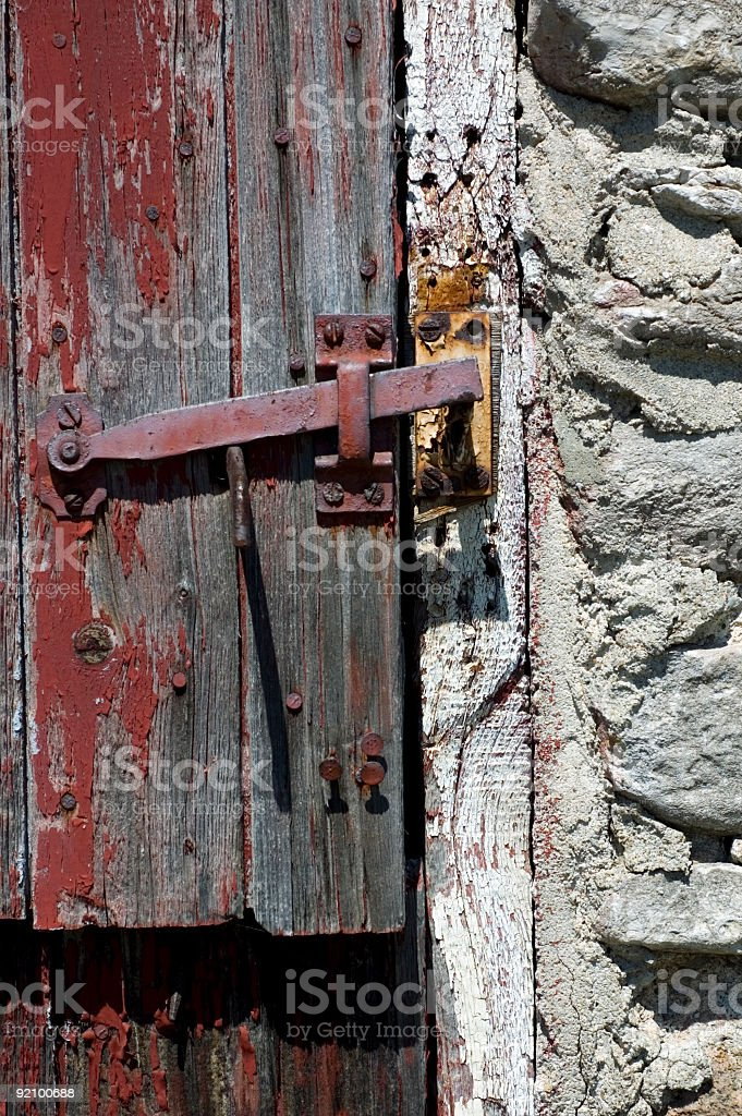 Aged Door Latch royalty-free stock photo