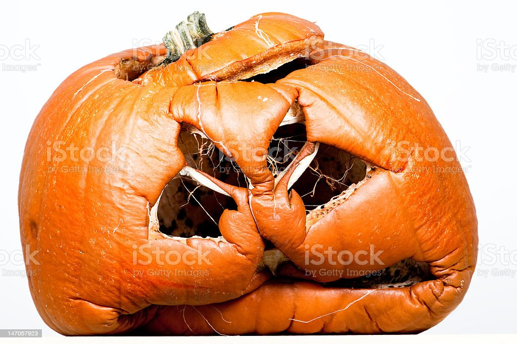Aged Halloween Pumpkin royalty-free stock photo