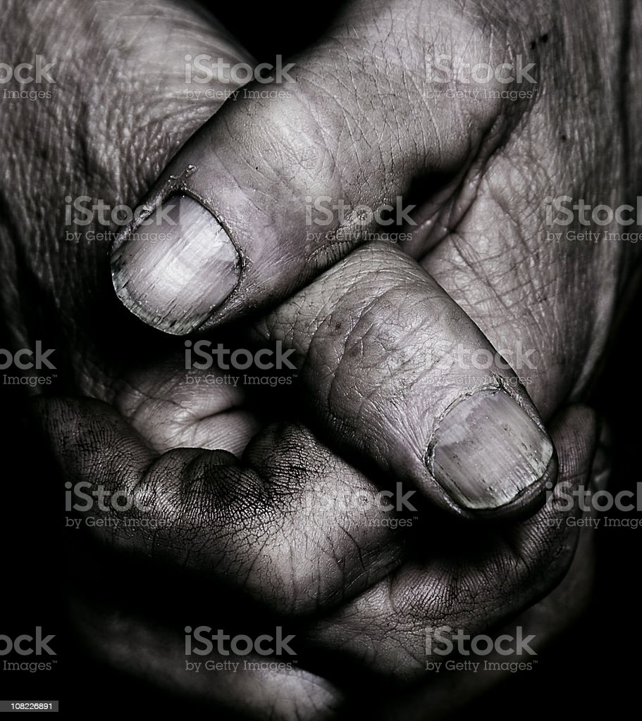 Aged Hand Detail stock photo