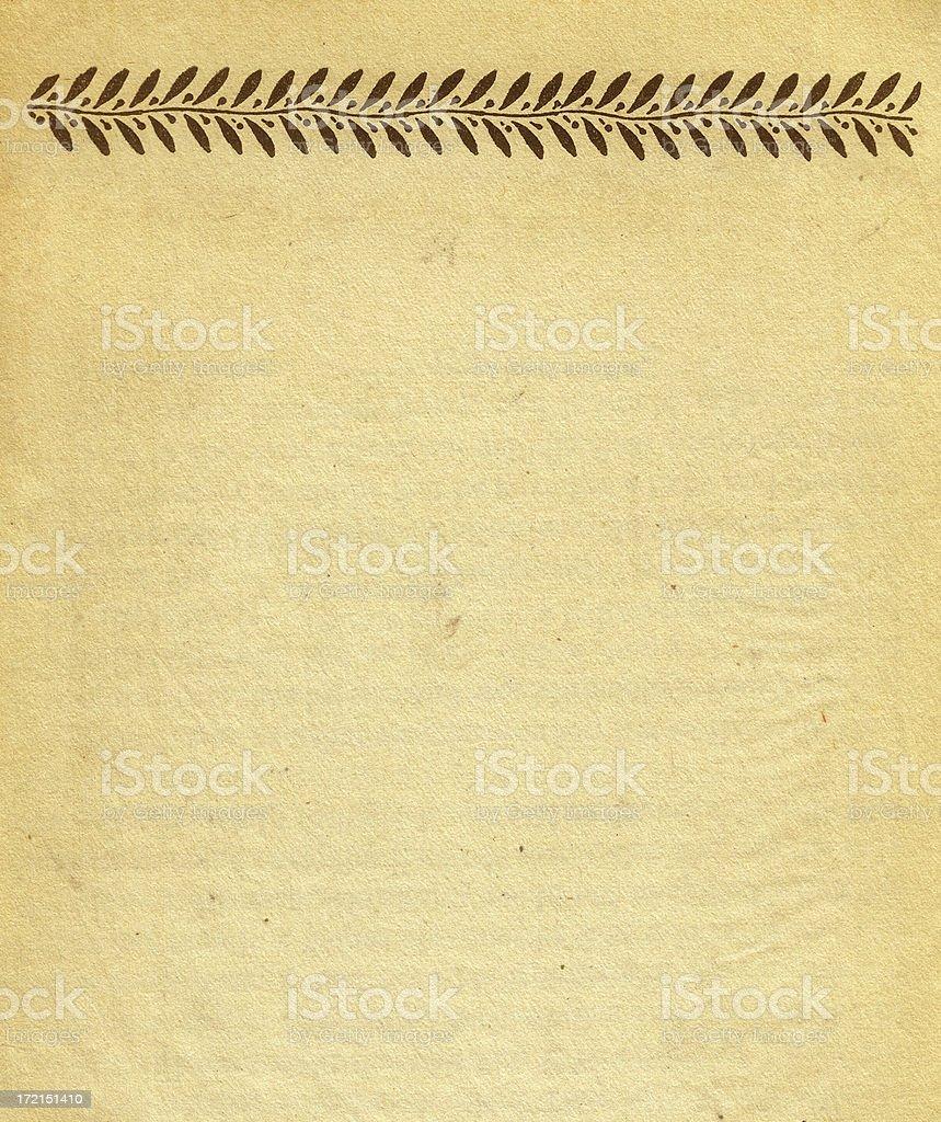 aged letterhead stock photo