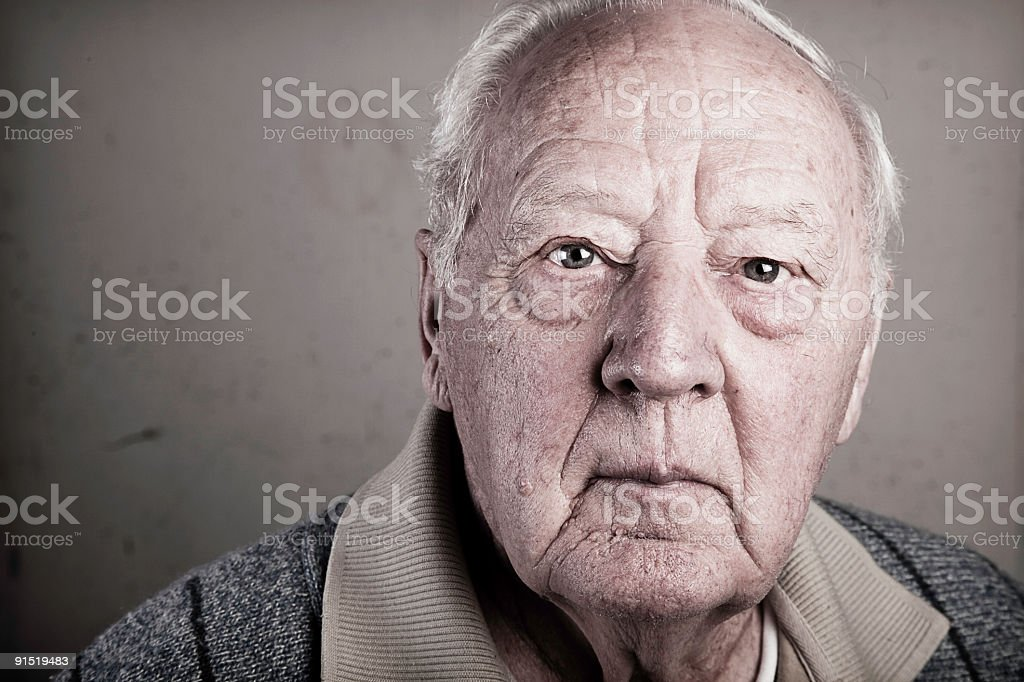 Aged Man royalty-free stock photo