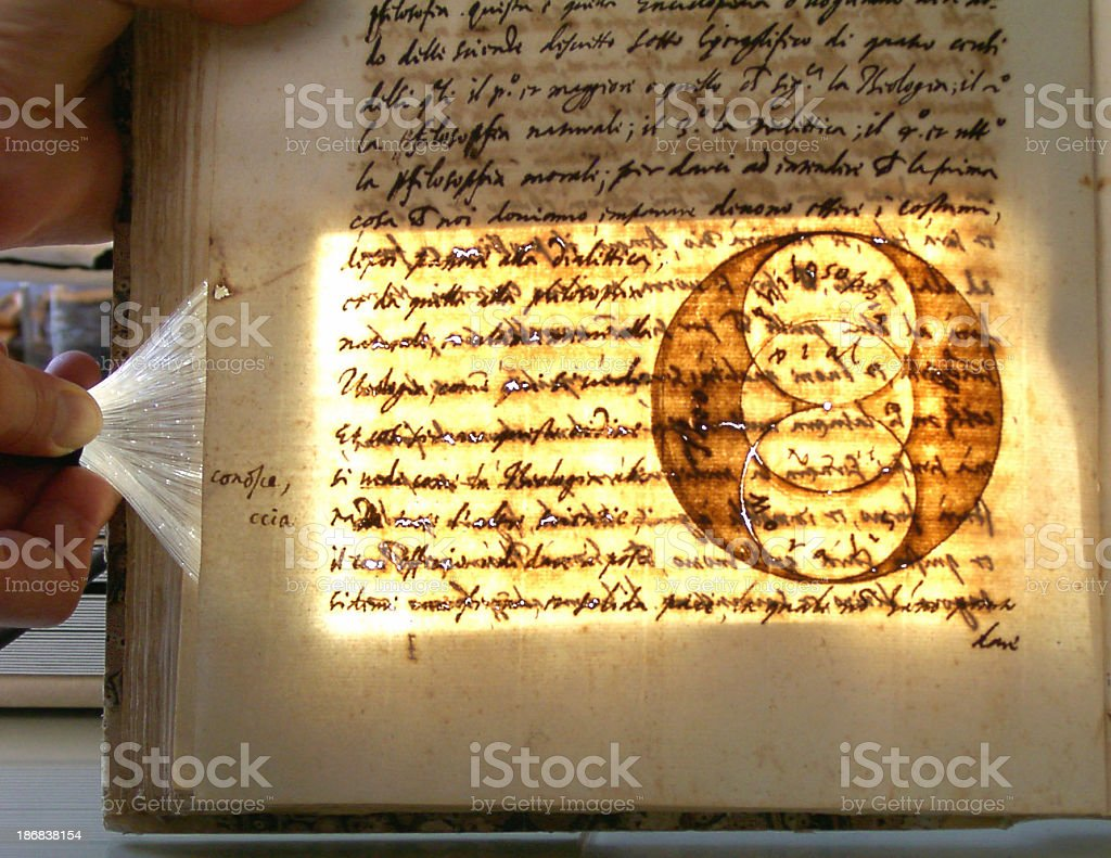 Aged manuscript book royalty-free stock photo