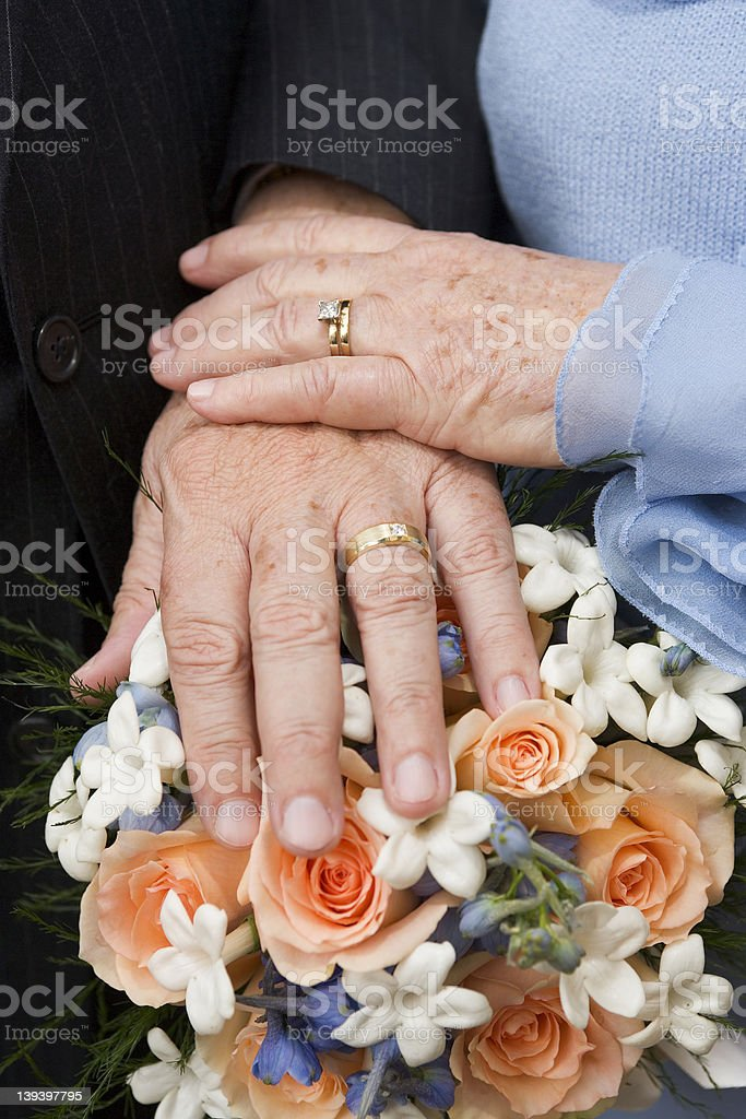 Aged Marriage royalty-free stock photo